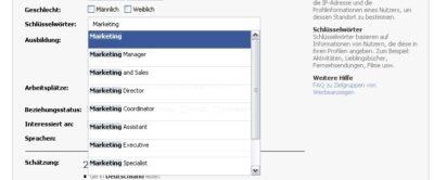 Facebook launched Keywordvorschläge in Ads