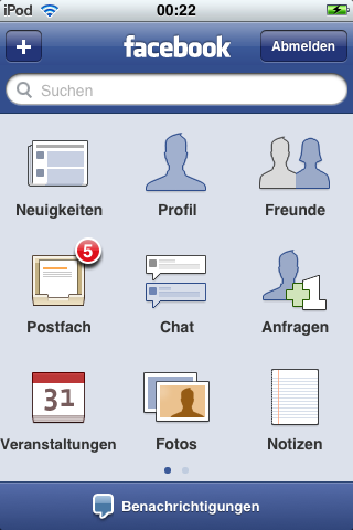Facebook iPhone Applikation