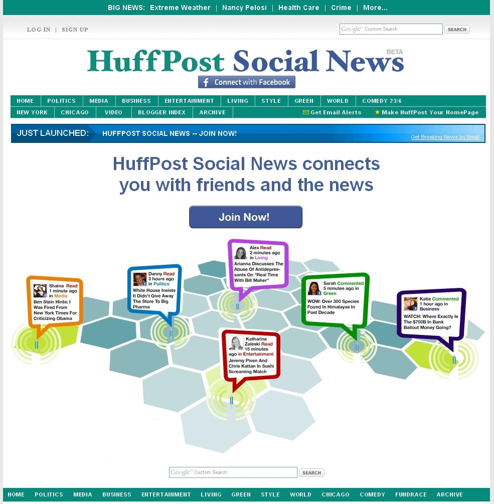 Kurzmitteilungen #7 – Neuer Facebook Browser Rockmelt, Huffingtonpost Social News, VZ´s nun endlich doch mit Opensocial