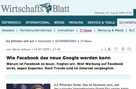 Kurzmitteilungen 6 – Facebook Werbung Wirkt, Wachstum doppelt so hoch wie bei Twitter, Verbesserte Autorisierung von Desktop Anwendungen, Holtzbrinck investiert in Wooga