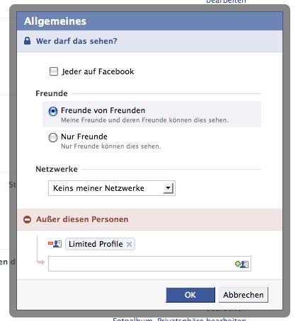 Facebook Privatsphäre Einstellungen im Detail