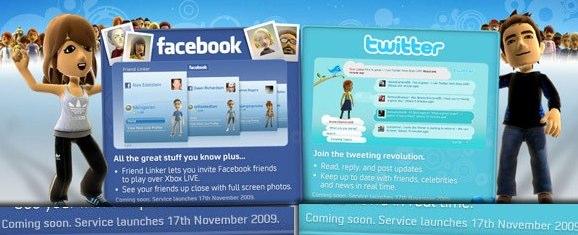 Facebook und Twitter ab nächstem Monat auf der XBox