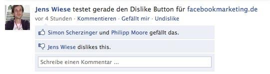 We like the Facebook/Firefox Dislike Plugin