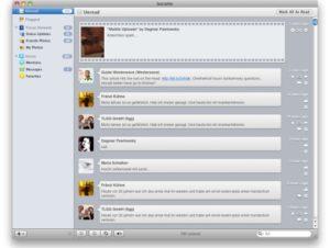 Socialite Screenshot (Quelle: MacMagazin)