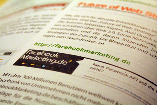 In eigener Sache: Facebookmarketing.de in der T3N