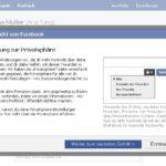 Facebook Privatsphäre (Quelle: Facebook)