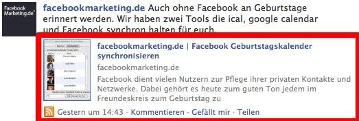 Eigene Homepage für Facebook Sharing optimieren