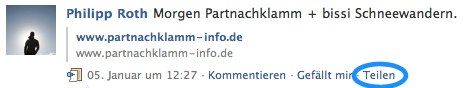 """via"", das Retweet Feature für Facebook"