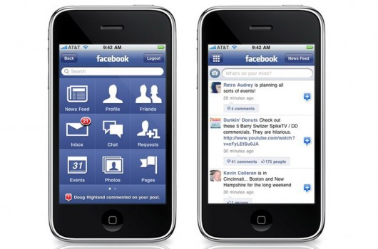 Facebook Applikation fürs iPhone (Quelle: Facebook.com)