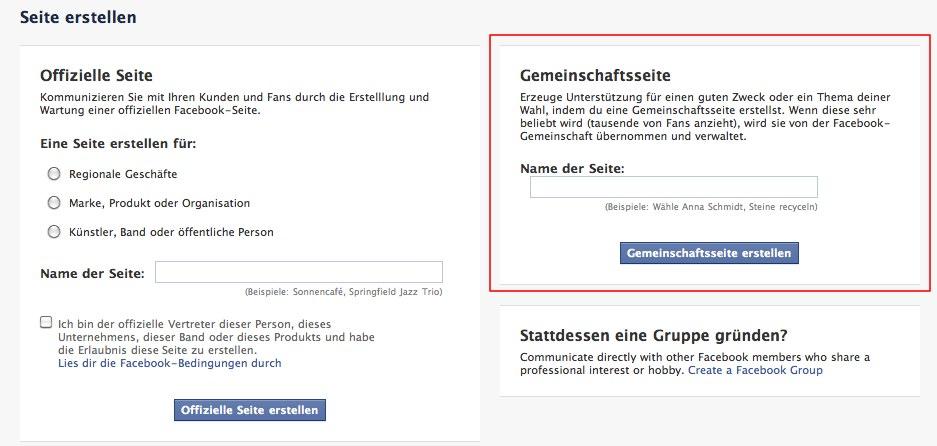 Gemeinschaftsseiten – Facebook räumt durch die neuen unoffiziellen Community Pages auf