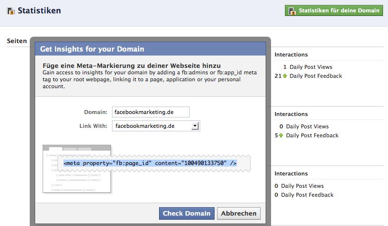 Facebook launcht eigenen Tracking Dienst – Insights für die eigene Domain