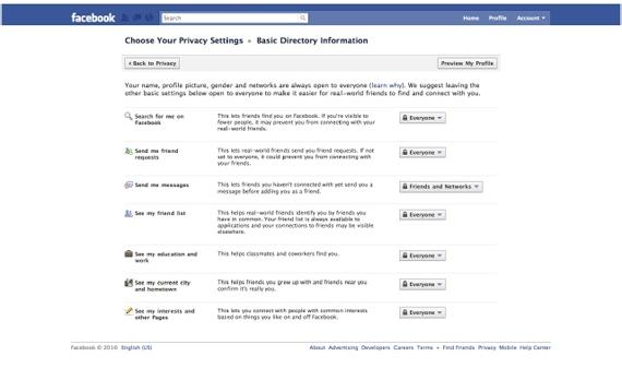 Überblick: Die neuen Facebook Privacy Einstellungen