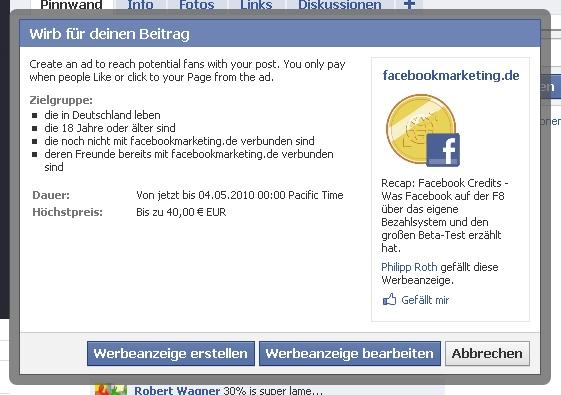 Inevitability, Anzeigen für Updates, Gegenwert von Fans, Facebookumfrage, 'Open Facebook', Pages der Deutschen Top Blogs…  (Kurzmitteilungen 30)