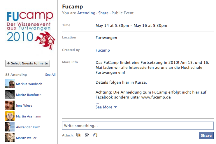 Update: Neues Design für Facebook Events