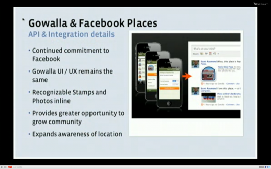 Facebook Places Foursquare & Gowalle Integration
