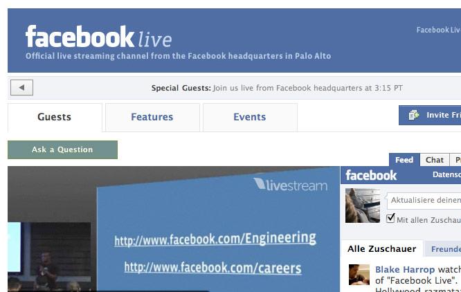 """Facebook Live – Neuer Videochannel überträgt """"live"""" aus der Facebook Zentrale in Palo Alto"""