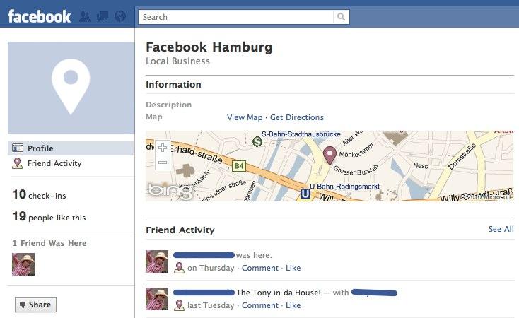Facebook Places und die Marketingmöglichkeiten
