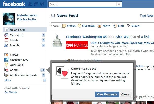Facebook Games Änderungen: Notifications, Policy, Feed Messages…