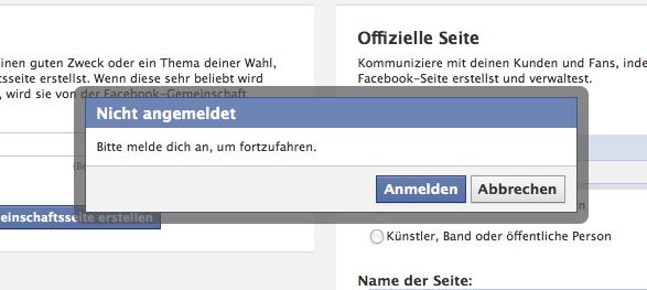 Bye Bye Unternehmenskonten – Facebook verbindet das Anlegen von Pages wieder mit den normalen Facebook Accounts