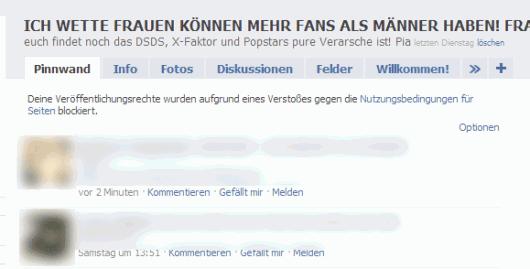 Gesperrte Facebook Page ohne Publisher