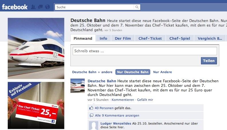 Die Bahn traut sich auf Facebook