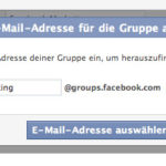 Facebook Gruppen E-Mail einstellen