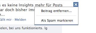 Facebook Spamfilter jetzt verfügbar