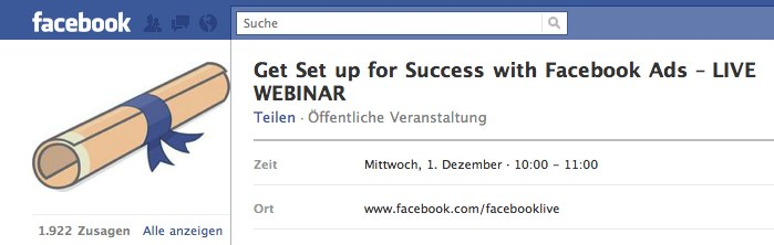 Heute 19.00 Uhr – Kostenloses Facebook Ads Webinar (English)