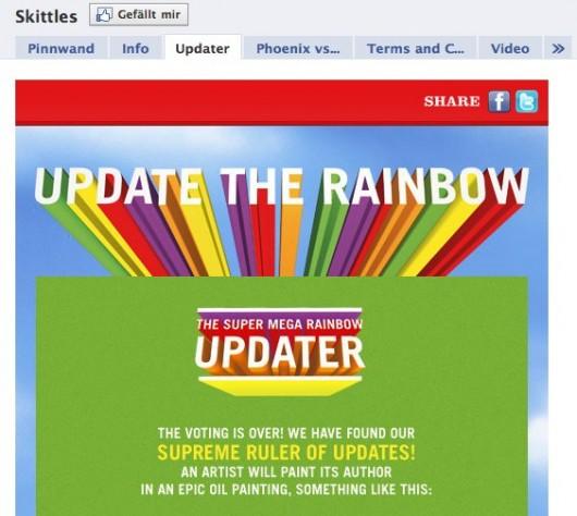 Facebook Page Skittles UK
