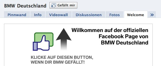 So geht's: Funktionierender Like Button in Static-FBML Tabs