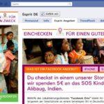 Tab zum Thema Facebook Deals von Espirt