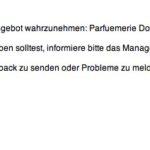 E-Mail zum eingelösten Deal, hier Douglas