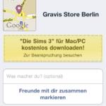 Gravis Facebook Angebot vor der Einlösung