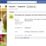 Vapiano Deal auf Facebook im Browser