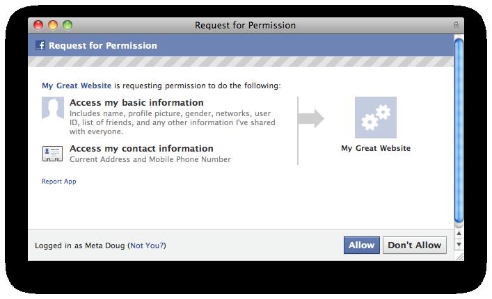 Facebook gibt Apps & Entwicklern nun Zugriff auf die Handynummern und die Adressen der Nutzer (natürlich erst nach Authorisierung)
