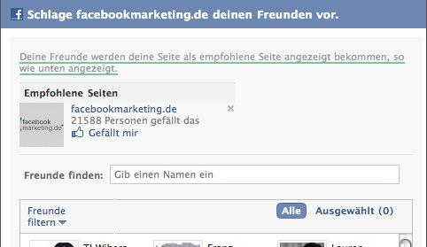 """Die Funktion Facebook Page """"Freunde vorschlagen"""" ist weg. So what?"""