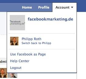 Neu: Facebook Pages als eigener Account nutzbar