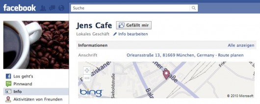Testplace mit vollem Places Funktionsumfang