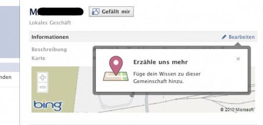Nutzer können Places bearbeiten