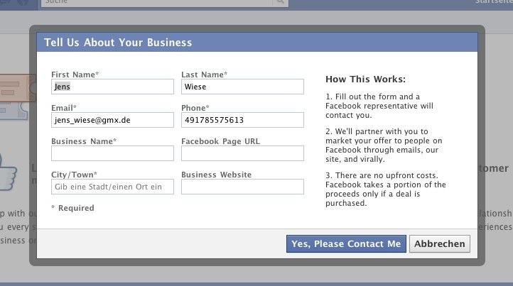 Facebook Deals Update – Jetzt mit Abo-Funktion bei neuen Deals einer Region/Stadt