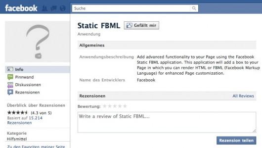 StaticFBML verliert nicht nur sein Profilbild sondern auch die Möglichkeit es zu intsallieren