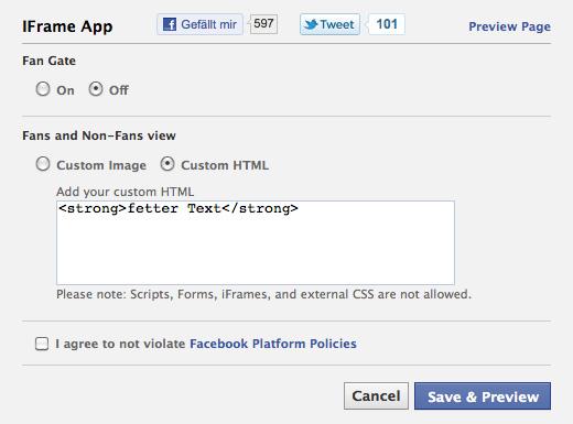 Static FBML ist weg: Wie erstelle ich nun Tabs für meine Fan Page? (Gastbeitrag)