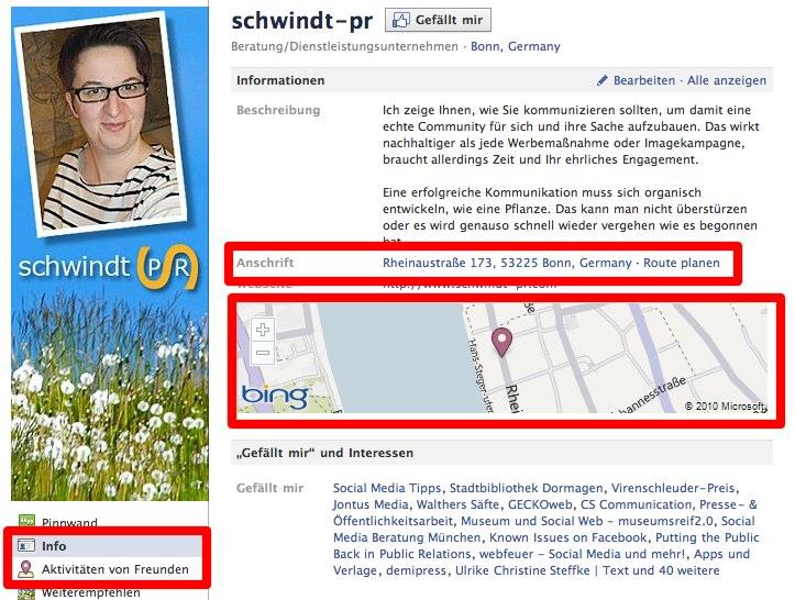 Facebook testet neuen Weg aus einer Page einen Place zu machen