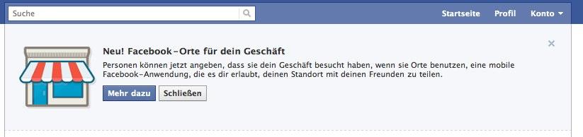 Update: Facebook kommuniziert nur den Seitenadministratoren das automatische Upgrade zu den Facebook Places
