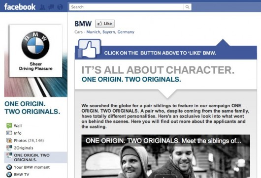 Screenshot BMW auf Facebook