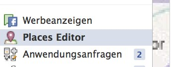 Neues Feature: Facebook Places Editor