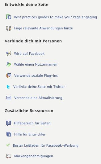 """Neue """"Hilfsmittel"""" für Page Admins"""