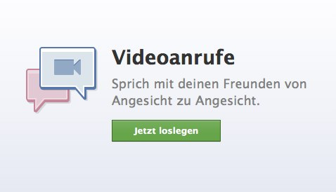 1-Click Videochat innerhalb von Facebook in Kooperation mit Skype (Video + Screenshots)