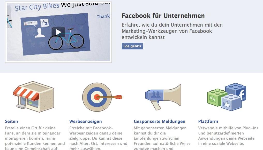 """Facebook launcht neue Seite –  """"Facebook für Unternehmen"""""""