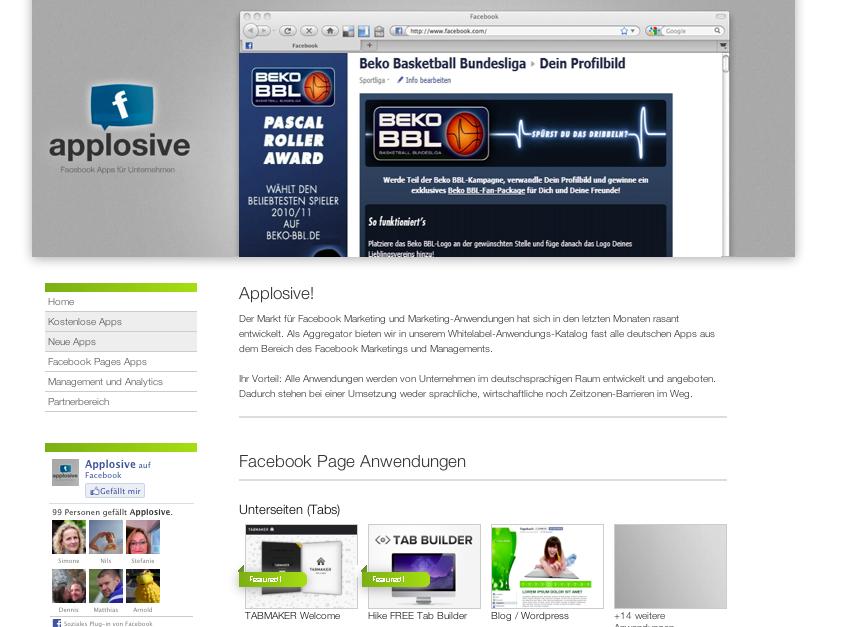 In eigener Sache: Applosive – Katalog für Facebook Apps
